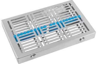 TWIST-LOCK Cassette Tray with cover MAXI, blue